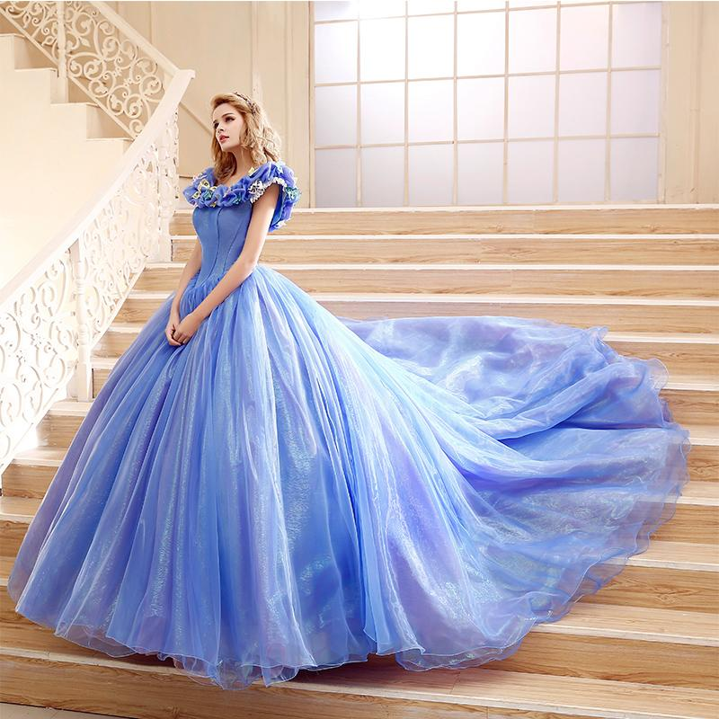 Cinderella 2015 Cheap Ball Gown Prom Dresses Off Shoulder
