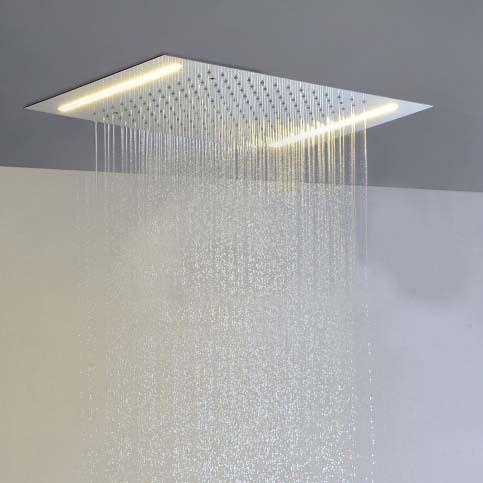 big top shower ceiling mounted electric shower headtled shower headsingle color led