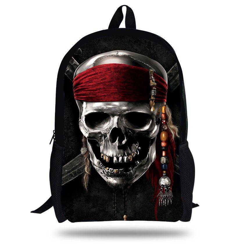16 Inch Mochila Skull Backpack School Kids Bags Boys Backpack ...
