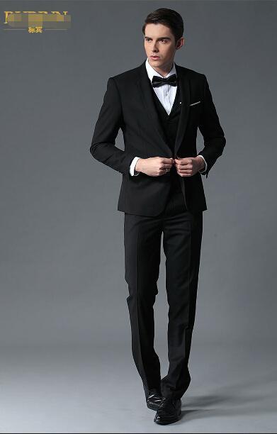 Men\'s Suit Fashion Professional Business Suit Three-piece Suit the ...