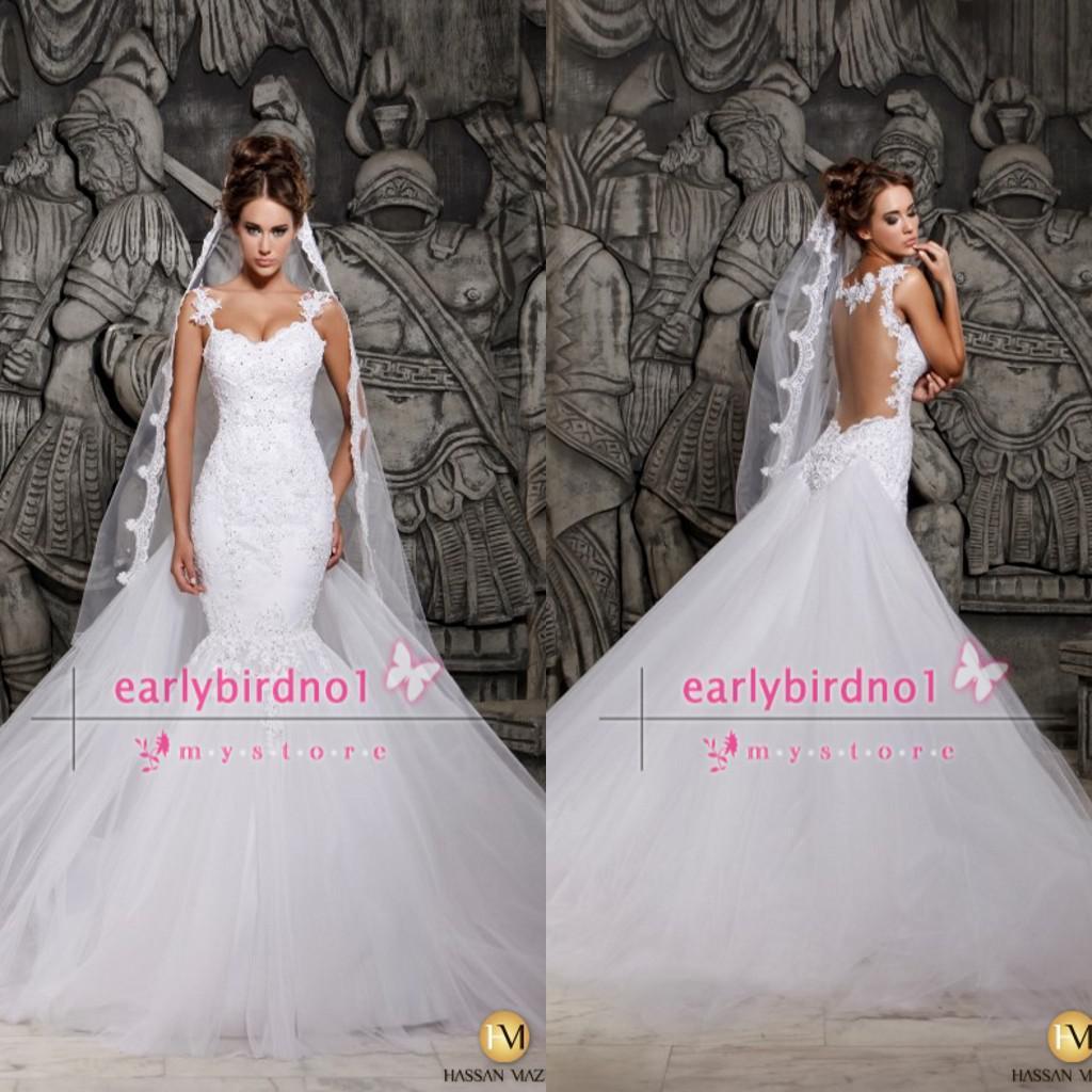 Big Promotion 2015 Cheap Wedding Dresses y Spaghetti