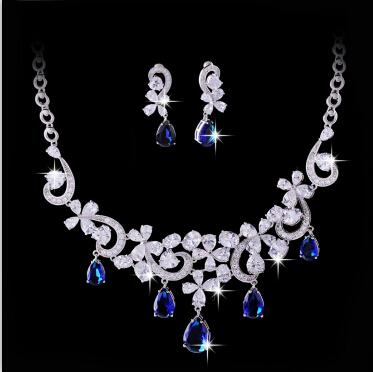 2017 elegant high end fashion jewellery cz diamond flower for High end fashion jewelry
