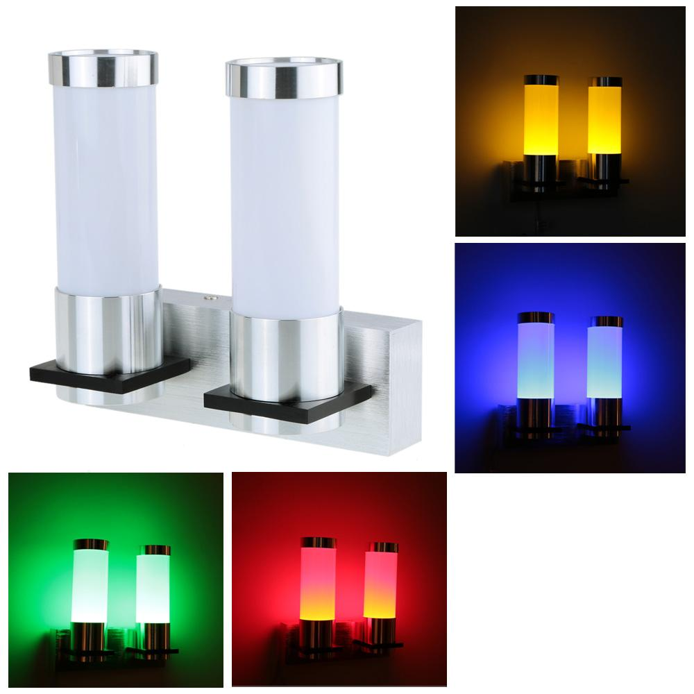 Kitchen Night Lights Red Yellow Blue Green Led Night Light Fixed On Wall Bedroom