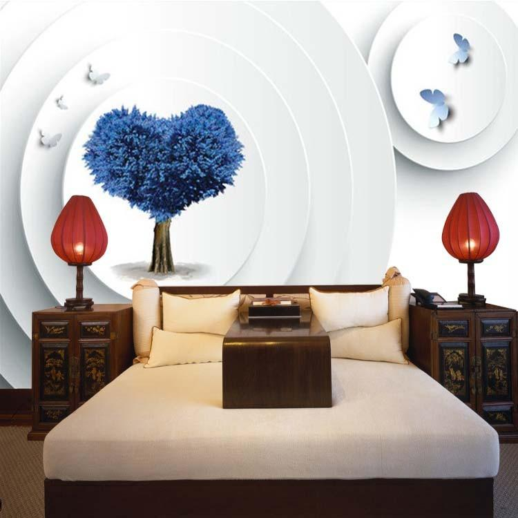 Love Wallpaper For Bedroom : 3d Wallpaper Bedroom Wallpaper Romantic Love child Entrance Video Walls And Trees custom Size ...