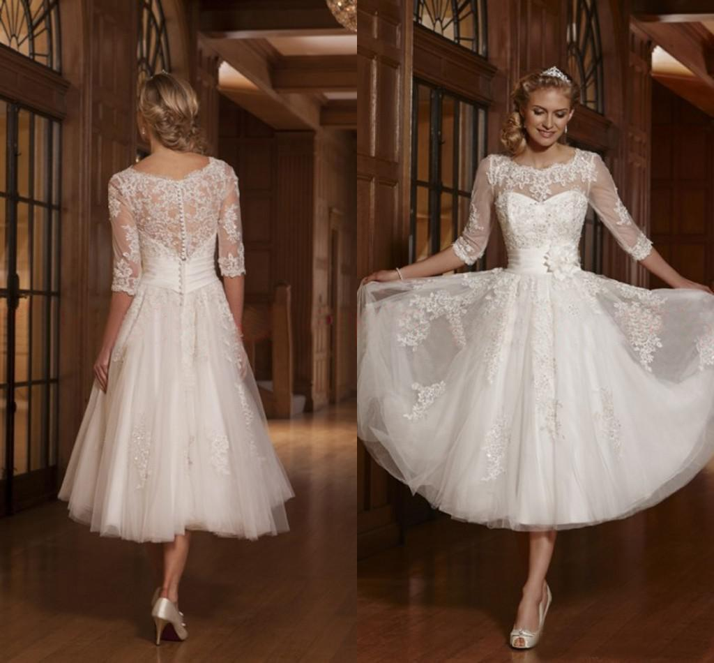 Cheap Tea Length Wedding Dresses | Free Shipping Tea Length ...