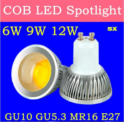 5x cree cob bombillas led lamp gu10 mr16 lampada led bulb. Black Bedroom Furniture Sets. Home Design Ideas