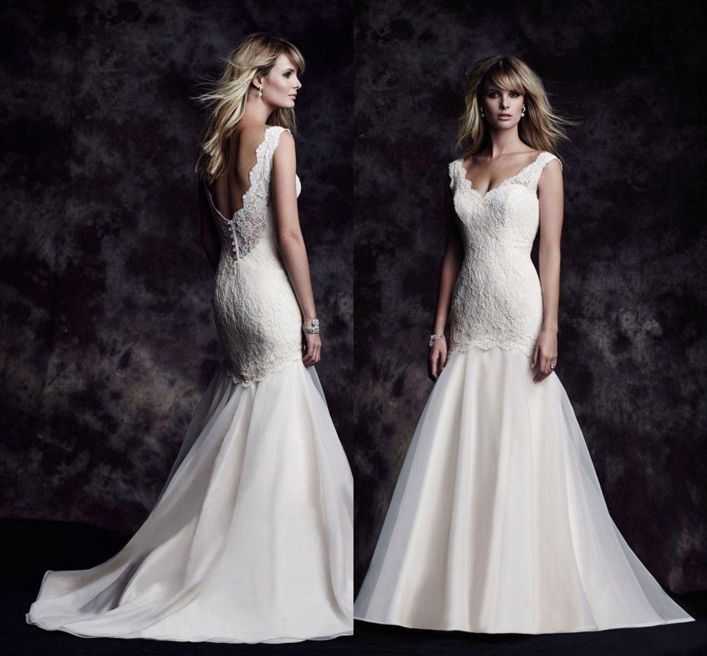 2015 paloma blanca beach wedding dresses vintage lace v