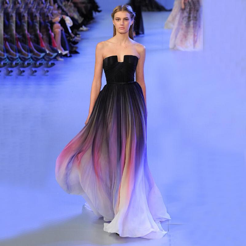 Wholesale Elie Saab Purple Ombre Dress - Buy Cheap Elie Saab ...