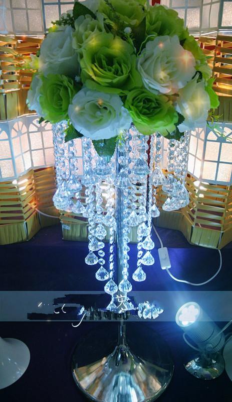 Wedding chandelier flower stand vase centerpiece beyblade