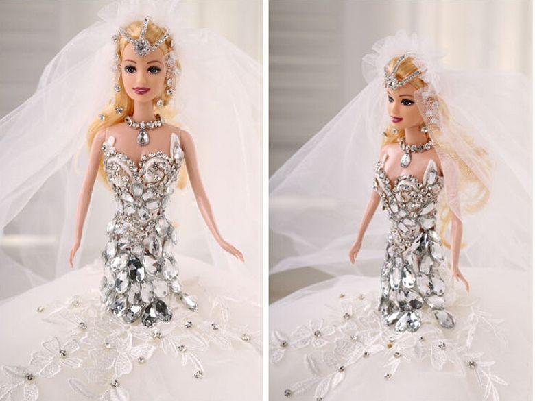 Barbie Dolls Girl Wedding Dolls Villain Crystal Christmas