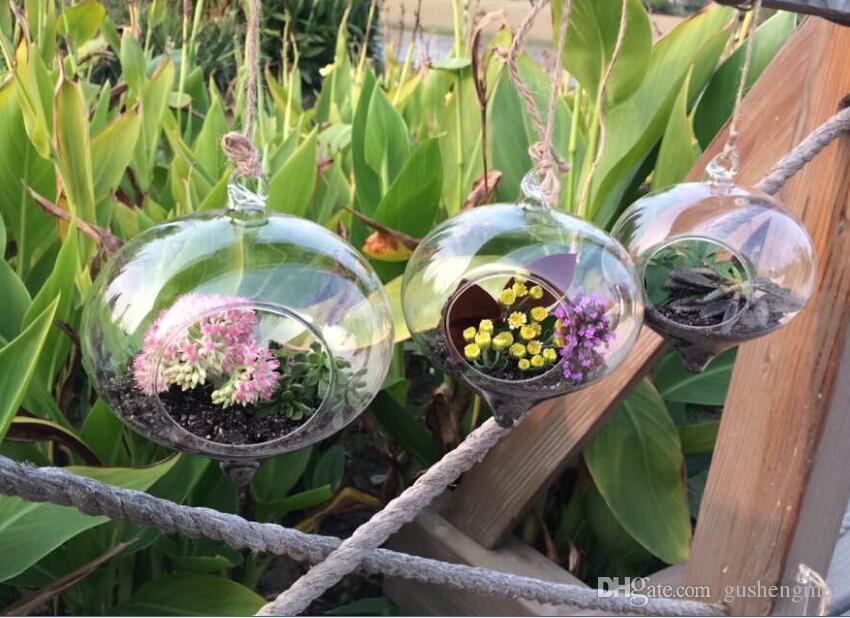 3 PCS/Set Onions Glass Succulent Planter Terrarium,hanging air plant  succulent for home decoration,house ornament - Onions Glass Succulent Planter Terrarium,Hanging Air Plant