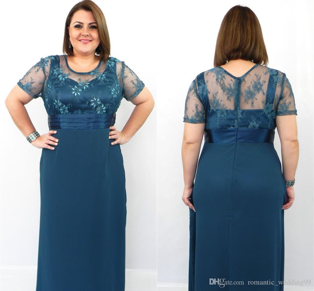 Wedding Plus Size Chiffon Dresses plus size chiffon short sleeve prom dresses zipper floor length see larger image