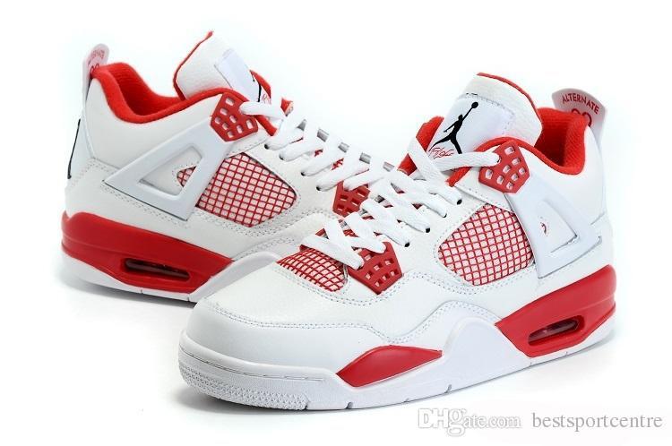 Nike Air Jordan 4 IV Retro Alternate 89 White Black Gym Red Mens Basketball Shoes Sports AJ4 Jordan shoes Jordans J4 Sneakers from bestsportcentre, ...