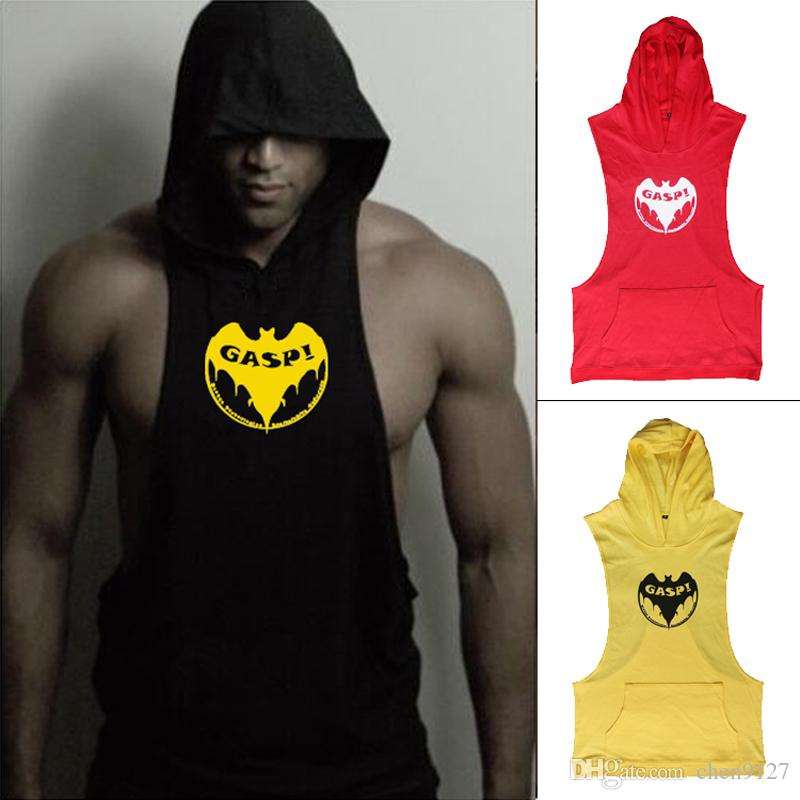 Stringer hoodie muscle shirt bodybuilding clothing beach Fitness shirts for men
