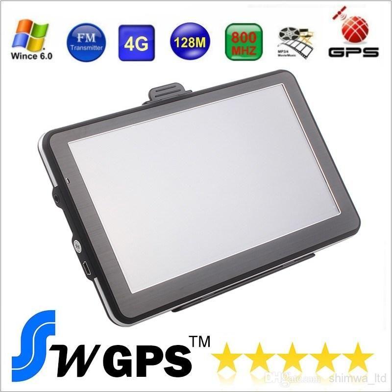 7 inch GPS navigation FM DDR128MB 800*480 car gps MTK MS2531 800MHZ Free maps for Europe North America USA Canada Australia