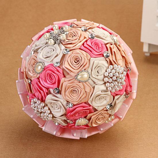 lovely pink color bouquet de fleur de mariage ramos de. Black Bedroom Furniture Sets. Home Design Ideas