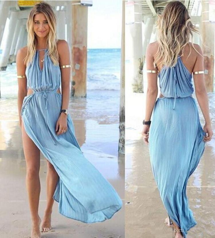 Best Selling 2015 Sexy Summer Chiffon Beach Dresses Long Bohemia ...