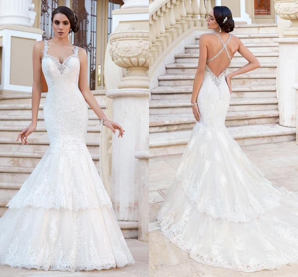 Glamorous Mermaid Style Wedding Dresses 2015 Beaded