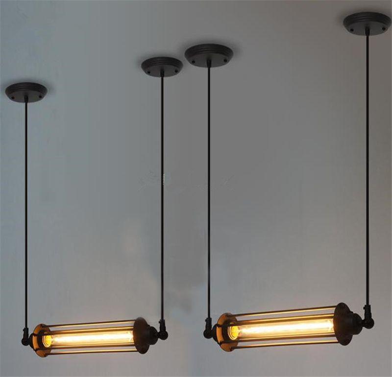 Ceiling Tube Light: Rare Vintage Style Industrial Ceiling Lamp Loft Edison Tube Light Bulb  Hotel Cafe Bar Resturent Pendant Lamps Ceiling Chandelier Light Hanging  Lights From ...,Lighting