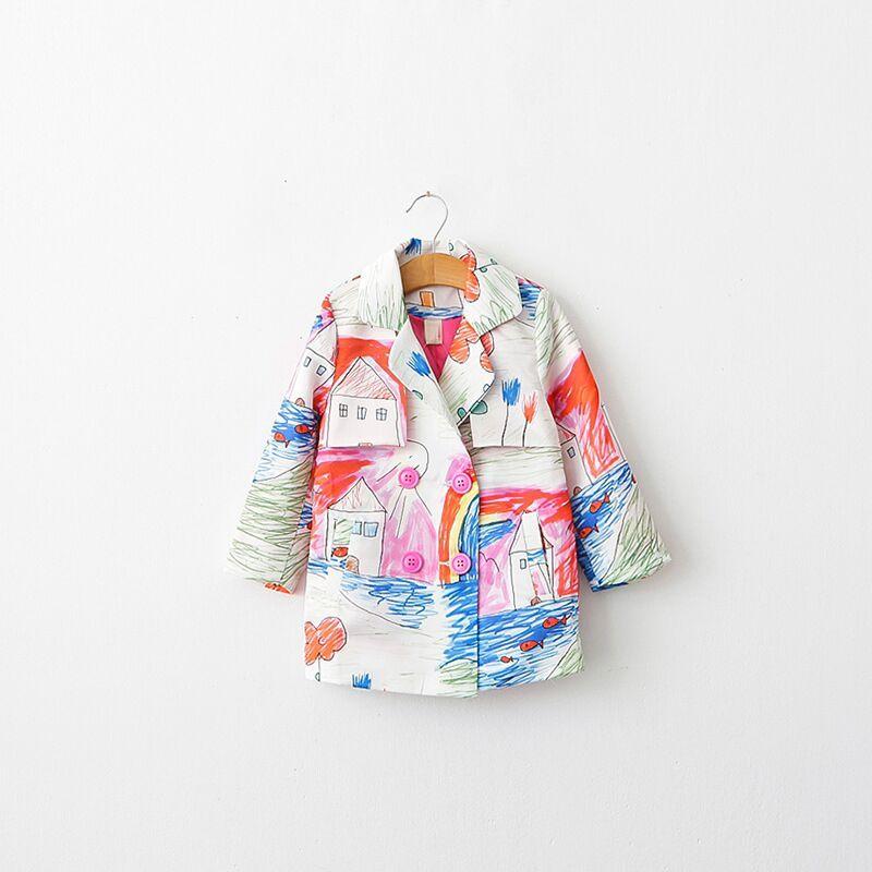 Wholesale Girl Jackets Designer Baby Girl Coat 2015 Autumn