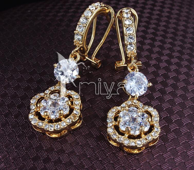 2018 2016 high end earrings temperament 18 k gold earrings for High end gifts for women