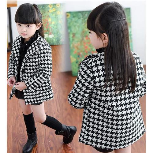 Cheap Baby Girls Outerwear Coat Plover Case Thickening Woolen