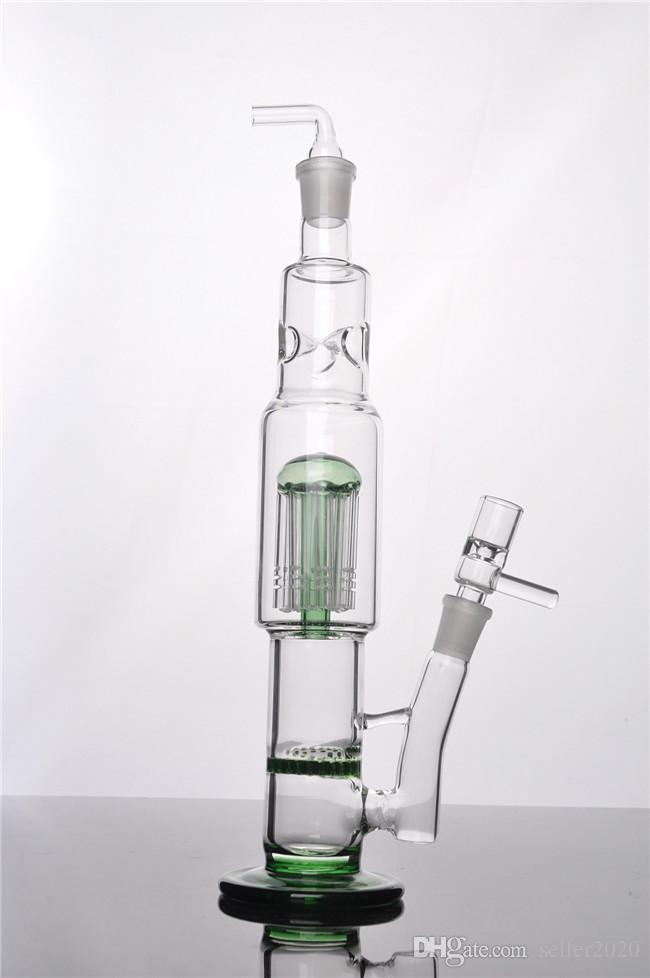 Best cool green motorcycle glass water pipes smoking pipe