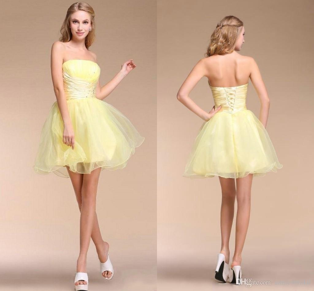 Yellow Party Dresses For Juniors
