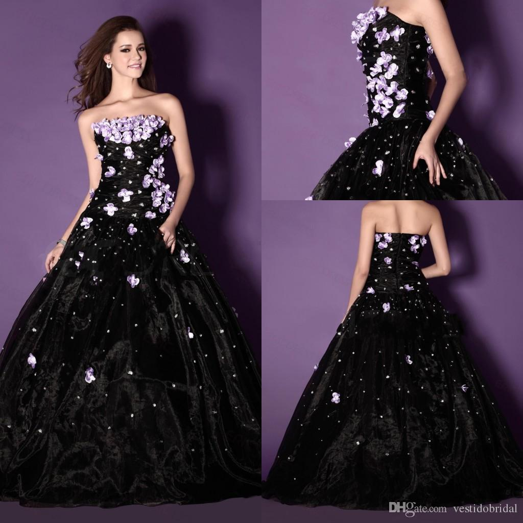 Charming Black Ball Gown Quinceanera Dresses 2015 For 15 Years ...