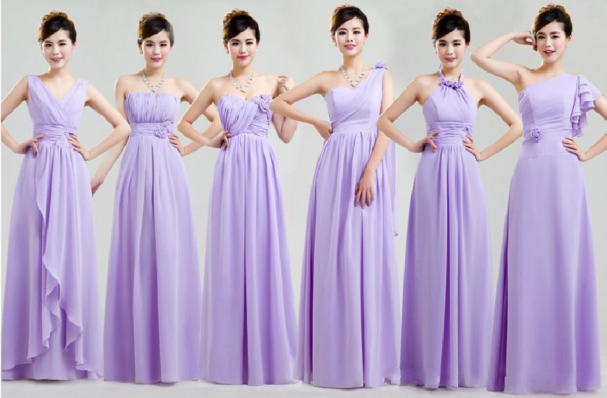 Dorable Pastel Purple Bridesmaid Dresses Ilustración - Ideas de ...