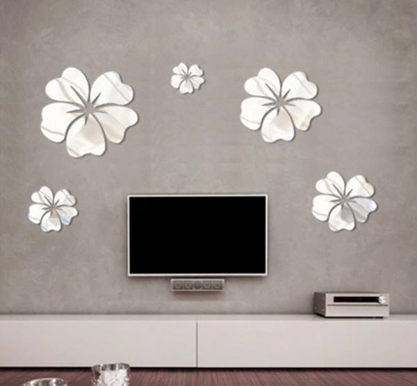 Perfect Cheap New Fashion Pcs Flowers Mirror Wall Art Best Days Fashion  Coats With Mirror Wall Decor. Part 68