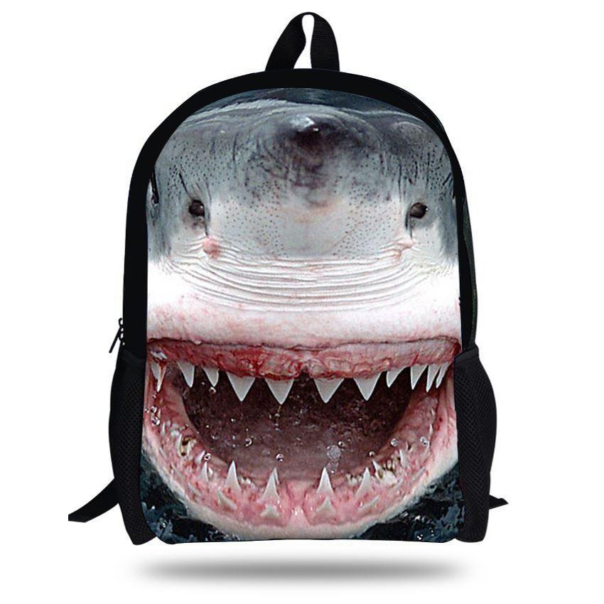 16 Inch Animal Bag Shark Backpack Animal Prints Cool Boys ...