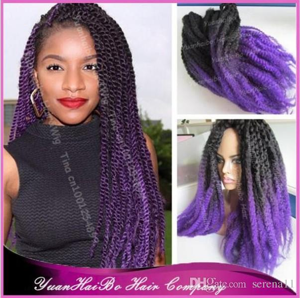 2016 Synthetic Ombre Marley Twists Braiding Hair Colored