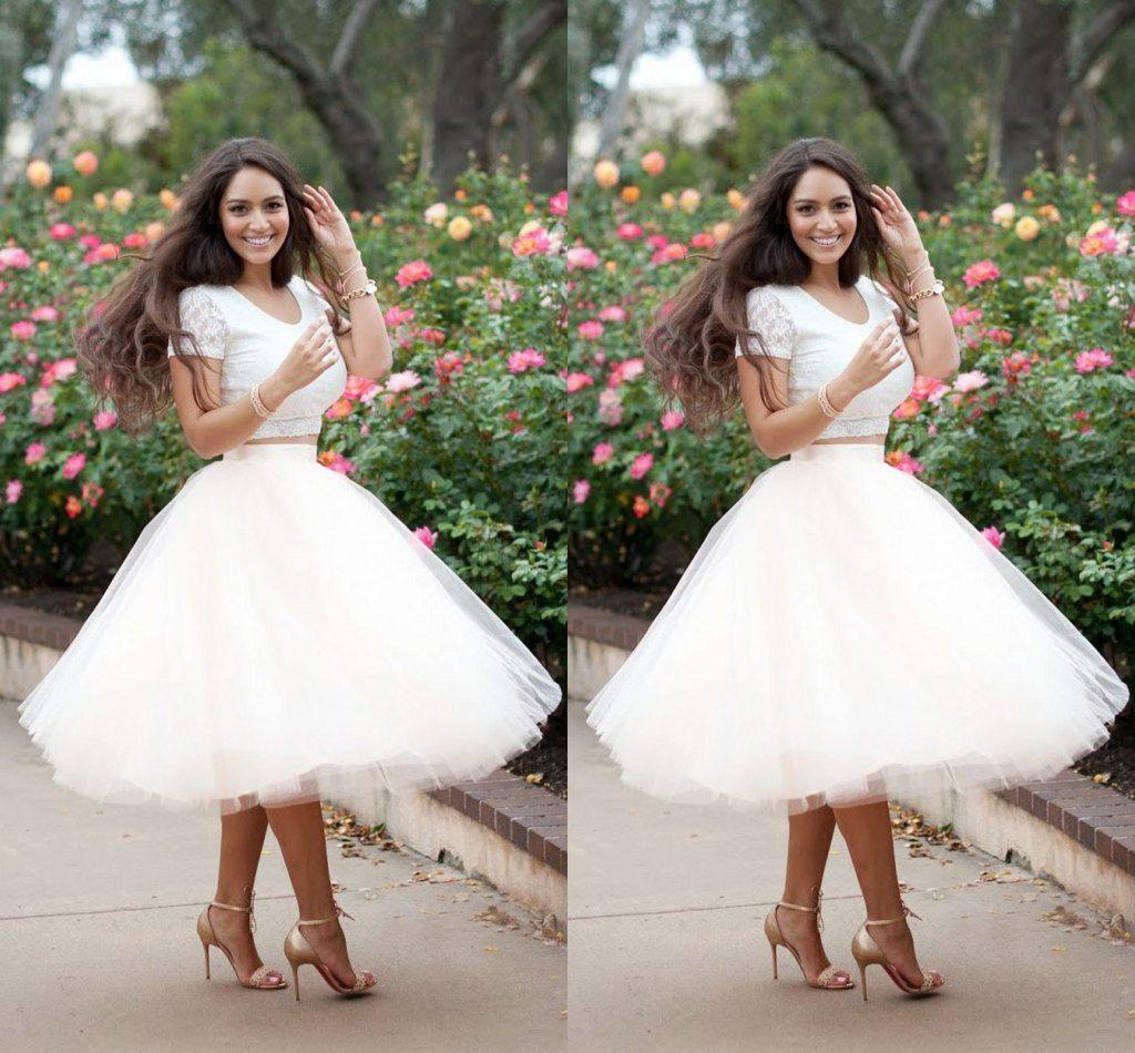 Online Cheap Plus Size Summer Skirts For Women Tulle White ...