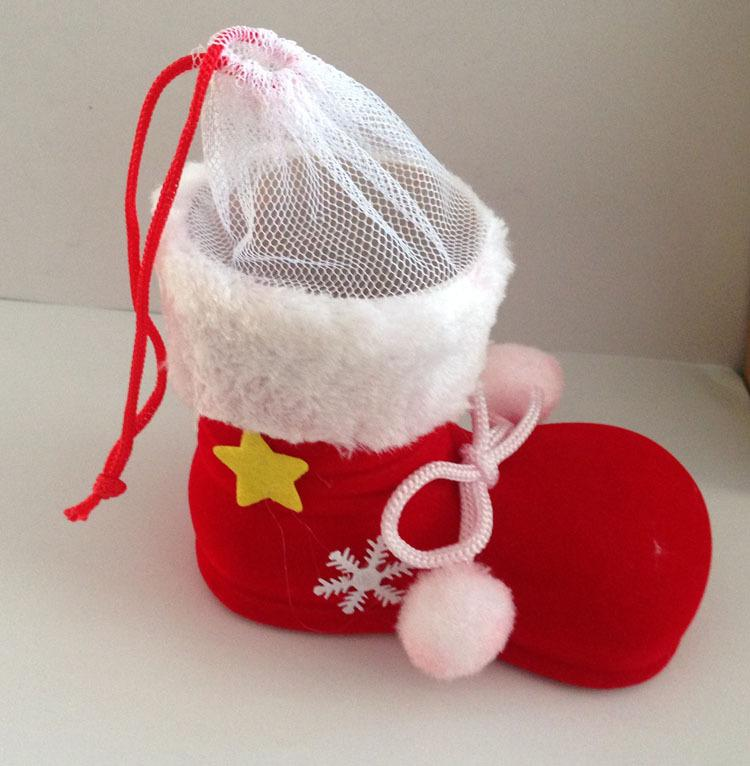 Newest christmas stocking elf bags candy gift bag xmas