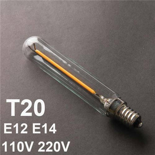 t20 led filament bulbs 1w dimmable e12 e14 tubular clear glass edison replacement incandescent. Black Bedroom Furniture Sets. Home Design Ideas