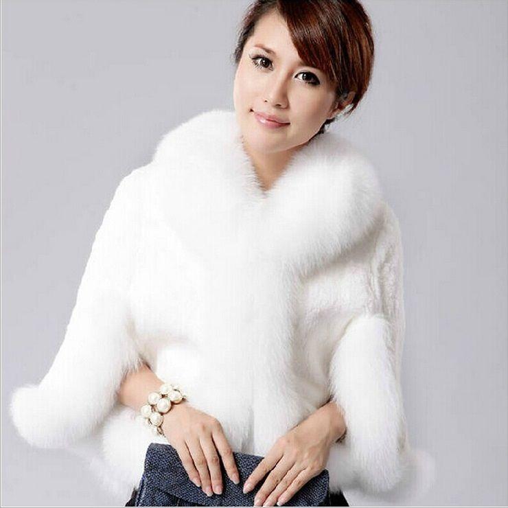 Fur Coats for Women 2015 New Fashion Winter Warm Faux Fur Shawl ...
