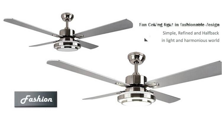 Remote Control Modern Unique Ceiling Fan Lights With