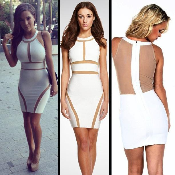 Hot Summer 2015 Sexy Dress Club Wear Voile Casual White Bodycon ...