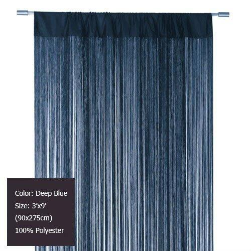 Curtains Ideas curtains in doorways : Deep Blue Tassel Door Curtain Fringe String Curtain Panel For ...