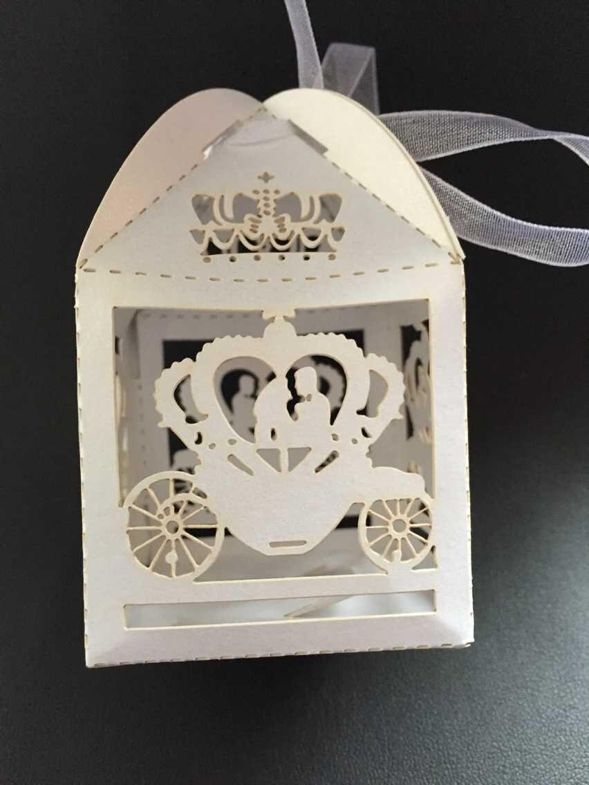 Laser Cut Cinderella Enchanted Carriage Marriage Box,pumpkin ...