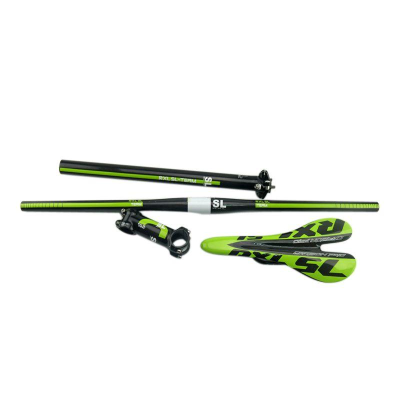 Adjustable Rxl Sl Full Carbon Fiber Mtb Bicycle Handle Bar Set Cycling