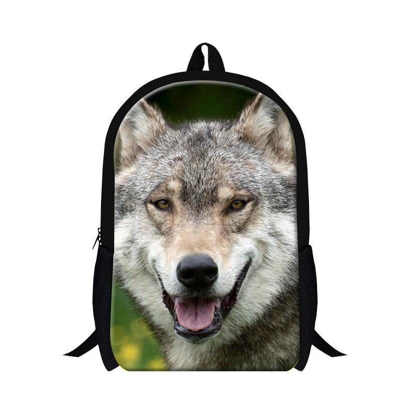 2015 Wolf 3d Printing Book Bags For College Students,Animal ...
