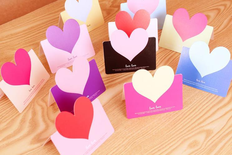 wholesale heart shape greeting cards  buy cheap heart shape, Greeting card