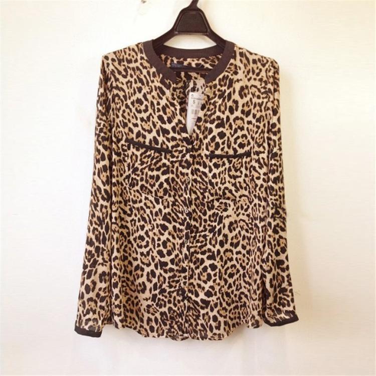 Fashion Women Clothing Chiffon Material V-Neck Womens Dress Shirts
