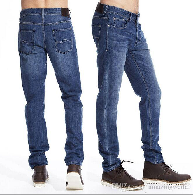 One Piece High Quality Cheap New Light Blue Mens Jeans Casual Long ...