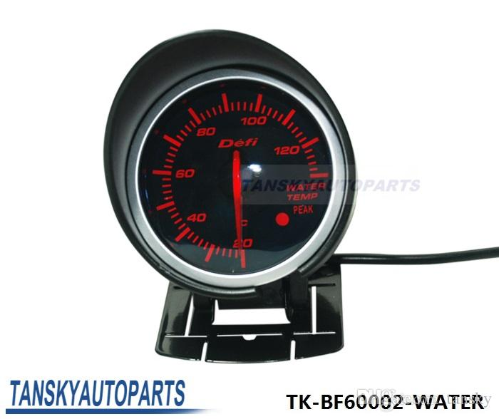 2017 defi water temp gauge 60mm high quality auto car motor led water temp gauge with red. Black Bedroom Furniture Sets. Home Design Ideas