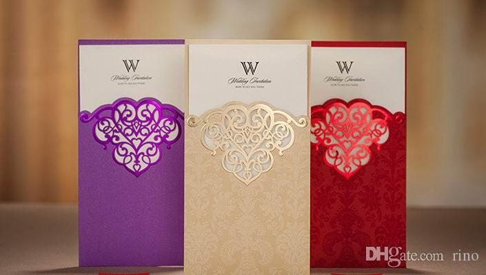 Free Customized Wedding Invitations Cards Hollow Wedding – Customized Wedding Invitation