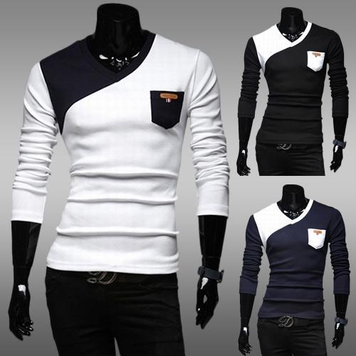 2016 New Fashion Brand Mens Clothing Long Sleeve T Shirt Baseball ...