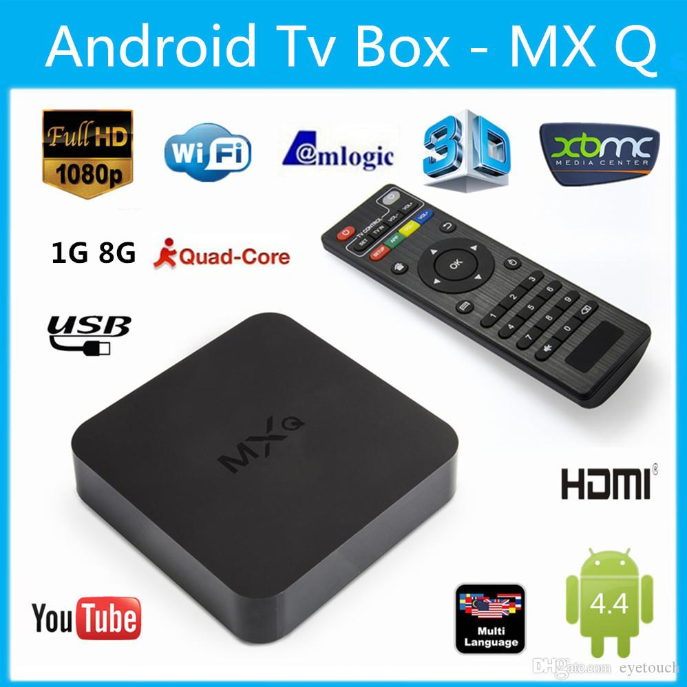 Online Update MXQ MXG MXS TV BOX Amlogic S805 Quad Core Android 4.4.2 Airplay Programs Media Player KODI14.2 15.2 Rooted 5pcs